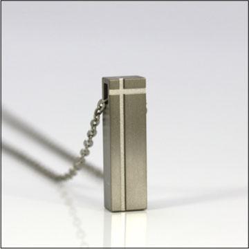 遺骨ペンダント(自身封入タイプ) チタニウム アッシュペンダント TI-005 遺骨ペンダント