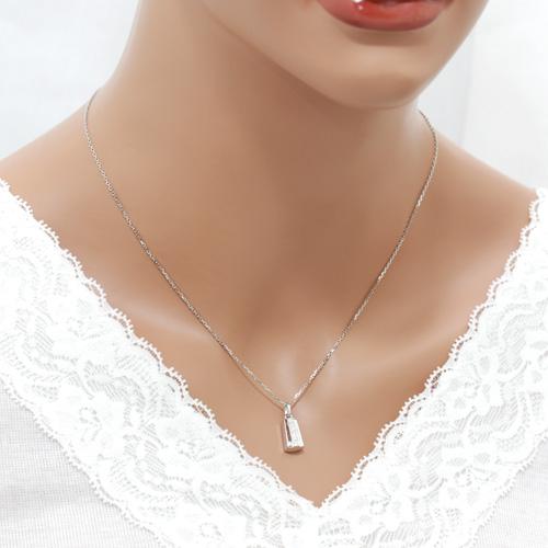 遺骨密封ペンダント(樹脂密封タイプ) ディアリーショート01ゴールドペンダント[刻印付き][ダイヤモンド又は誕生石] 完全防水 遺骨アクセサリー