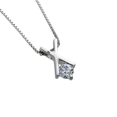 【ご遺骨から作るダイヤモンド0.25ct~(ダイヤ5色から選択)】ペンダントDP009プラチナ950 遺骨アクセサリー
