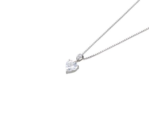 【ご遺骨から作るダイヤモンド0.25ct~(ダイヤ5色から選択)】ペンダントDP011ホワイトゴールド 遺骨ペンダント