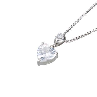 【ご遺骨から作るダイヤモンド0.25ct~(ダイヤ5色から選択)】ペンダントDP011ホワイトゴールド 遺骨アクセサリー