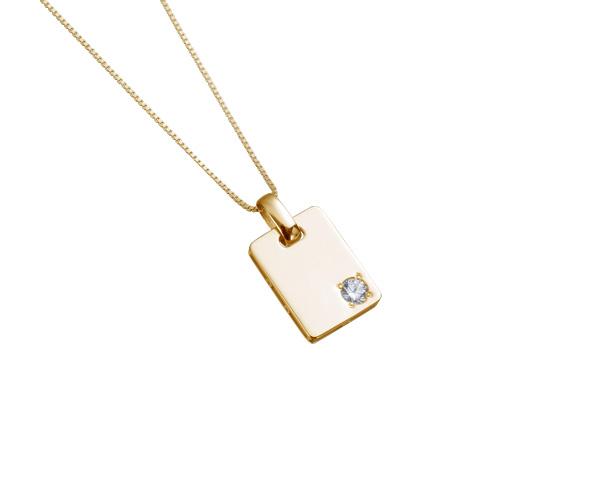 【ご遺骨から作るダイヤモンド0.25ct~(ダイヤ5色から選択)】ペンダントDP014ゴールド 遺骨ペンダント