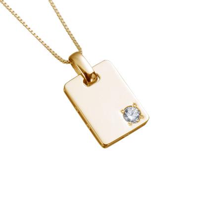 【ご遺骨から作るダイヤモンド0.25ct~(ダイヤ5色から選択)】ペンダントDP014ゴールド 遺骨アクセサリー